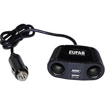 Eufab 16549 In-car 12V Splitter Nr. von 12V Anschlüssen 2 x Schnittstellen: USB 2 x Max. Tragfähigkeit 10 A