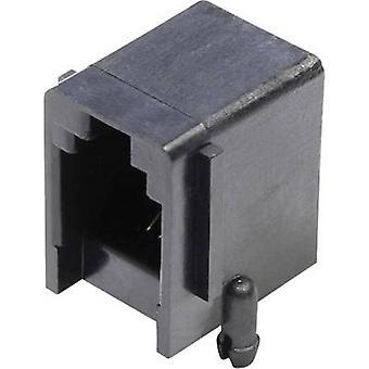 Modulära monterade socket Socket, horisontella mount antal stift: 4 MJUSE44GAB svart econ ansluta MJUSE44GAB 1 dator