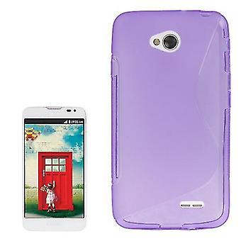 Mobile Shell S line TPU asia LG L70 / dual D325 lila / violetti