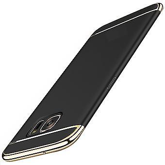 Cell phone cover case voor de Samsung Galaxy A7 2017 bumper 3 in 1 cover zwart