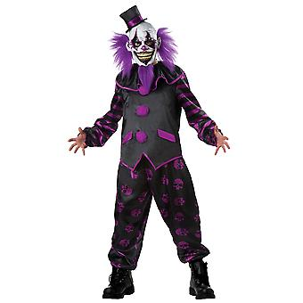 Bärtige Clown Joker Hofnarr Horror gruselig böse Scary Halloween Mens Kostüm XL