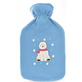 Kids Novelty Soft Fleece Covered Hotwater Bottle - Polar Bear