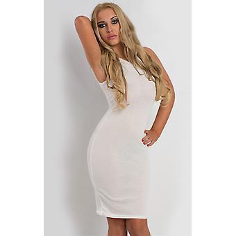 IKRUSH Womens Landry Ribbed Bodycon Dress