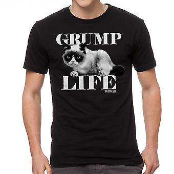 Grumpy Cat Grump leven mannen zwart grappig T-shirt