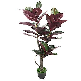 110cm Large Rubber Plant Artificial Tree Ficus Elastica