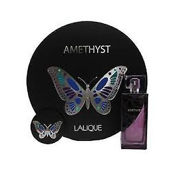 Lalique ametist Gift Set 100ml EDP + spegel