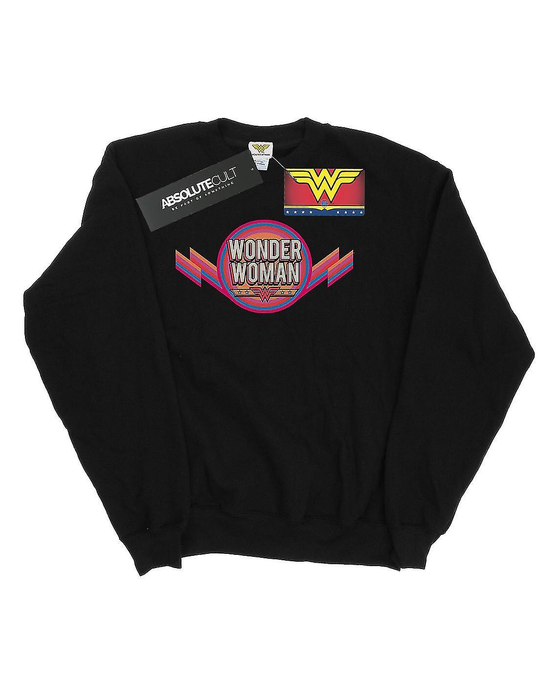 DC Comics Girls Wonder Woman Rainbow Logo Sweatshirt