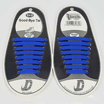 Trendy schoenveters die niet hoeven te worden vastgebonden 8 paar donkerblauw