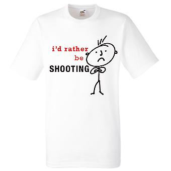 Mens I'd Rather Be Shooting White Tshirt