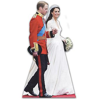 Prince William and Katherine Middleton - Lifesize Cardboard Cutout / Standee  (Royal Wedding Dress)