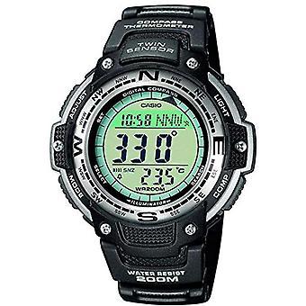 Casio quartz digital watch with black resin strap SGW-100-1VEF