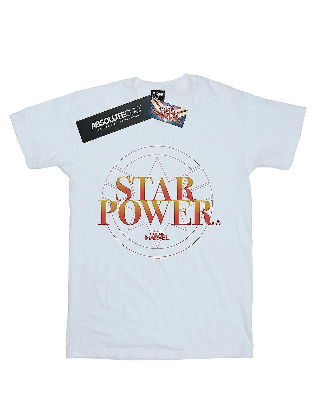 Marvel Boys Captain Marvel Star Power T-Shirt