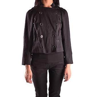 Dries Van Noten Ezbc007006 Women's Black Cotton Outerwear Jacket