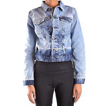 Diesel Ezbc065018 Women's Blue Cotton Overtøjsjakke