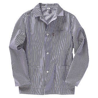 BEB Butcher ' s bunda, mäsiarsky košeľu, mäsiarsky blúzka, mäsiarsky košeľu, mäsiar, mäsiar, dlhý rukáv, 100% bavlna (sanfor), nemecká tkanina, vyrobená v EÚ