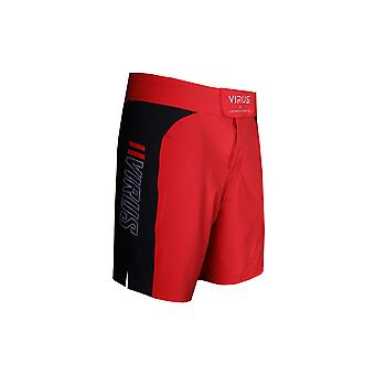 Virus Mens Disaster Combat Fight Shorts - Red/Black - fitness gym training