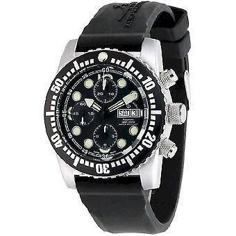 Zeno-Watch miesten katsella lento kone sukeltaja Automaattinen Chronograph musta 6349TVDD-3-a1