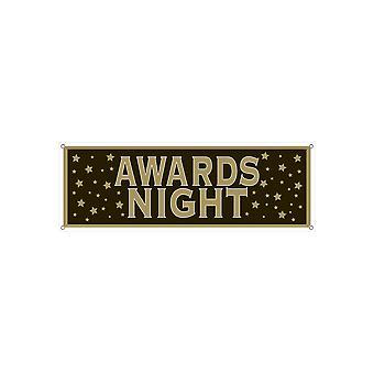 Bannière de signe de nuit de récompenses