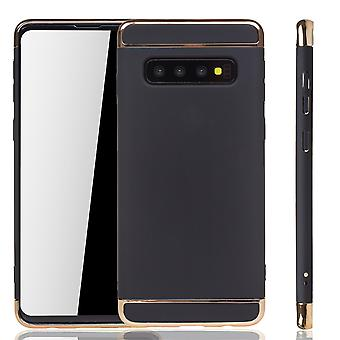 Samsung Galaxy S10 Plus Puhelin kotelo suoja kotelo puskurin kova kansi musta