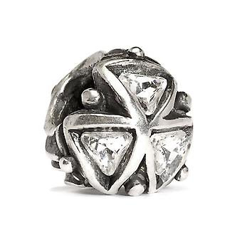 Trollbeads Crystal Triangle Silver Bead TAGPE-00027