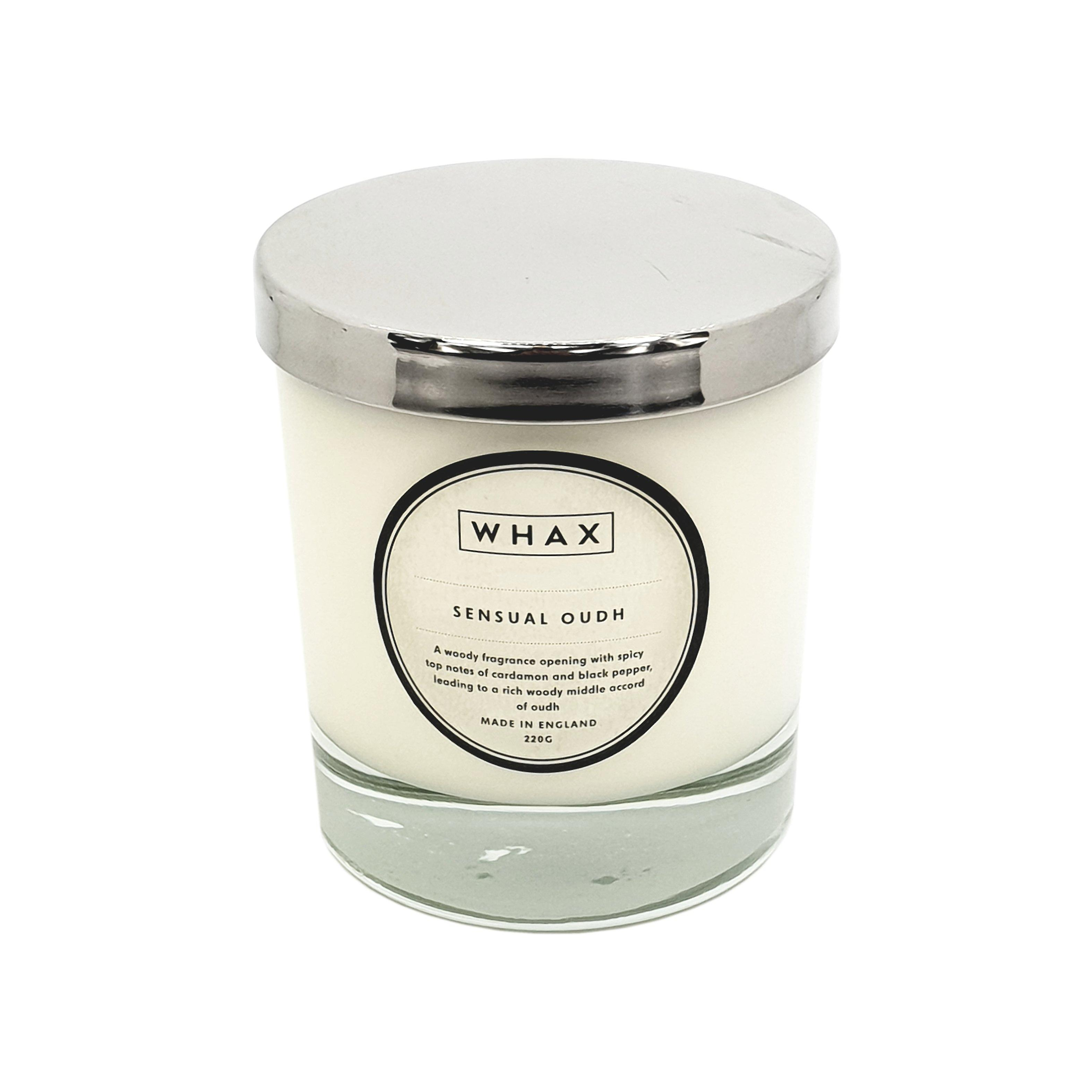 Sensual oudh luxury scented candle