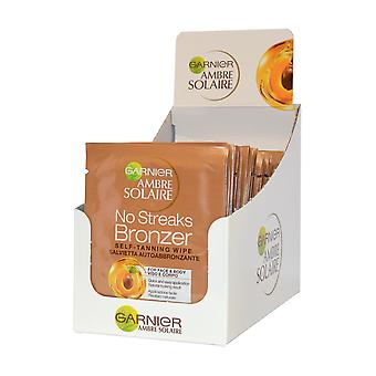 Garnier Ambre Solaire No Streaks Bronzer Self Tanning Wipe Pack of 30 x 5.6ml for Face and Body