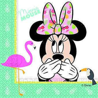 Minnie Tropical Maus Party Servietten ca 33 x 33 cm Kindergeburtstag 20 Stück