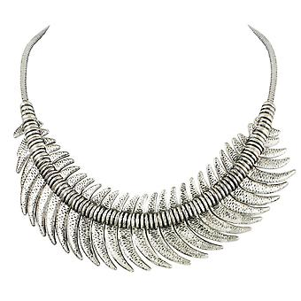 Eternal Collection Crescent Moon Silver Tone Fashion Necklace
