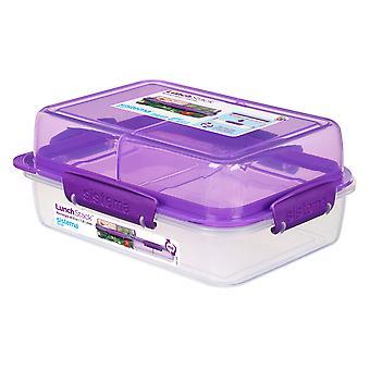 Sistema Rectangular Lunch Stack 1.8L, Purple