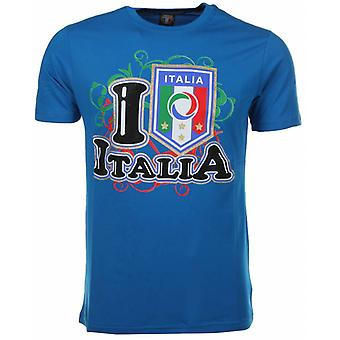 Camiseta Me encanta Italia-Azul