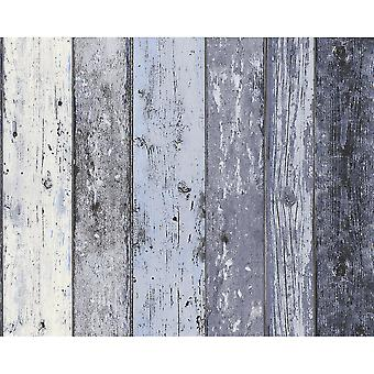 A.S. Creation AS Creation Painted Wood Beam Wooden Panel Faux Effect Textured Wallpaper 855060