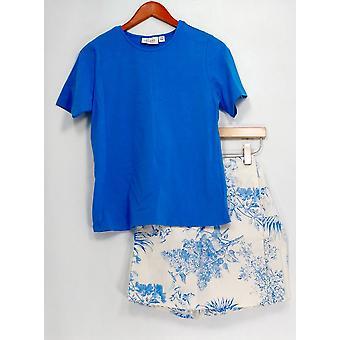 & Denim co. Set stretch Koszulka & stretch Skort Classic Blue A10855