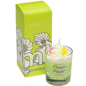 Bomb Cosmetics Piped Glass Candle - Flower Power