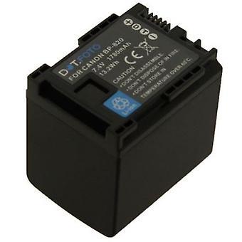 Dot.Foto BP-820 PREMIUM 7.4v / 1780mAh Ersatz wiederaufladbare Camcorder Batterie für Canon [Siehe Beschreibung für Kompatibilität]