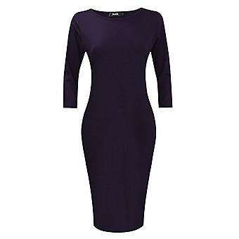 POZON Womens Classic slim fit Bodycon Midi jurk (S,, donker paars, maat Small