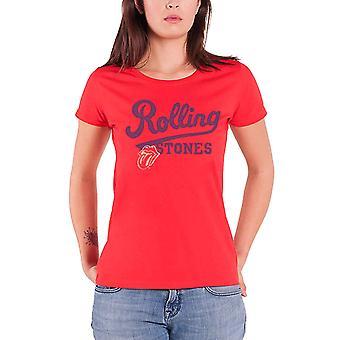 Lo Rolling Stones T camisa lengua banda insignia oficial mujeres nuevo rojo ajuste flaco
