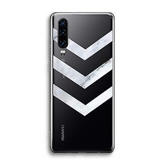 Funda transparente Huawei P30 - Flechas de mármol