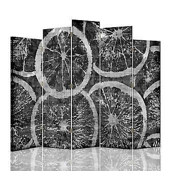 Dekorative Raumteiler, 5 Panels, doppelseitig, 360 ° Drehbare Leinwand, in Scheiben geschnitten ?? Orangen