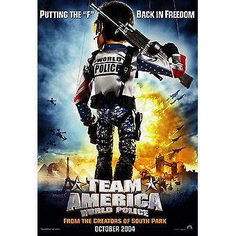 Team America (Double Sided Advance) (2004) Original Cinema Poster