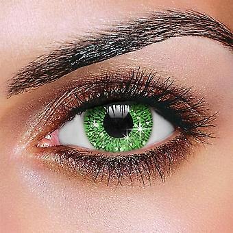 Glimmer verde lentes de contacto (par)