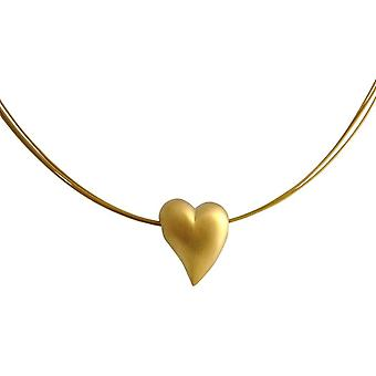 GEMSHINE necklace pendant solid 925 silver, gold plated or rose HEART