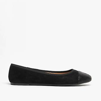 Shumo Velvet Ladies Soft Slip On Pumps Shoes Black