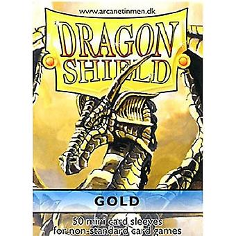 Dragon Shield 50ct. in bag Japanese size - Gold (Pack of 10)