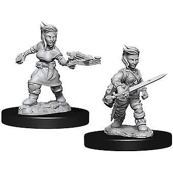 Pathfinder Battles Deep Cuts Unpainted Miniatures Female Hafling Rogue (6 Packs)