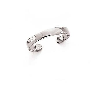 14k White Gold Polished Band Toe Ring Jewelry Gifts for Women - .7 Grams
