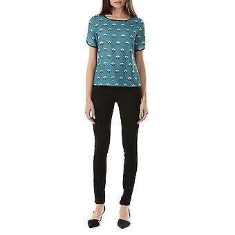Sugarhill Boutique Women's Calia Lovebird Short Sleeved Blouse Top