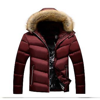 Allthemen Men ' s Solid hodded vastagít kabát téli meleg Slim Fit felsőruházat kapucnis
