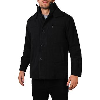 KRISP mens Double lined wol winter Smart Casual Trench Pea vacht Reefer jas plus