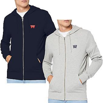 Wrangler Mens Sign Off Zipped Casual Cotton Hoody Sweatshirt Hoodie Sweater Top