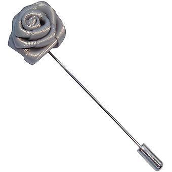 Bassin og Brown Rose Flower Jacket jakkeslaget pin-grå